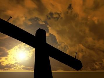 Black cross against the sky