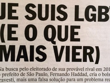 Revista Veja Bolsa Gay LGBT